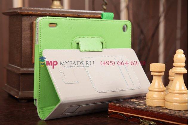 """Фирменный чехол-обложка для Acer Iconia Tab A1-810/A1-811 зеленый натуральная кожа """"Prestige"""" Италия"""