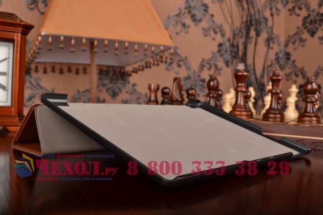 """Фирменный умный чехол самый тонкий в мире для планшета Acer Iconia Tab A3-A30/A31 """"Il Sottile"""" коричневый кожаный"""
