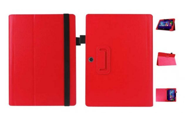 Чехол для Acer Aspire Switch 10 E SW3-013 / 12TJ/1812 10.1 красный кожаный