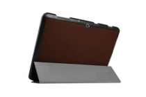 """Фирменный умный тонкий чехол для  Acer Iconia One B3-A10 / B3-A11 10.1/ Android 5.1 / NT.LB6EE.003 / MediaTek MT8151 1.7 GHz  """"Il Sottile"""" коричневый пластиковый"""