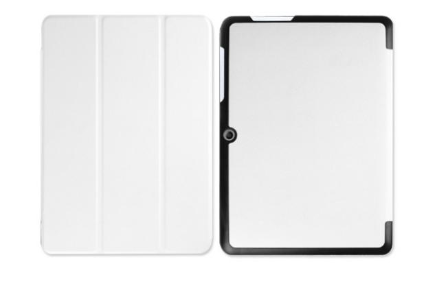 """Фирменный умный тонкий чехол для Acer Iconia One B3-A20 10.1"""" """"Il Sottile"""" белый пластиковый"""