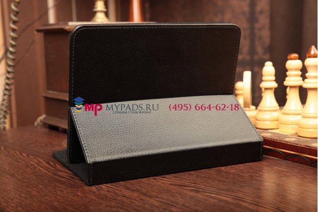 Чехол-обложка для Acer Iconia Tab A220/A221 черный кожаный