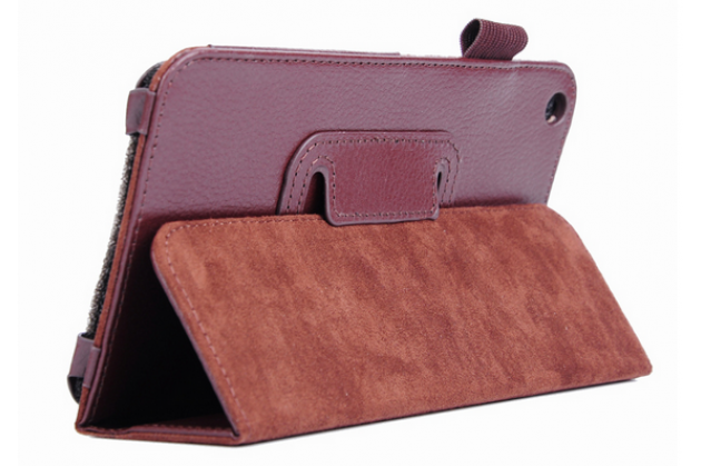 Чехол для Acer Iconia Talk S A1-724 коричневый кожаный