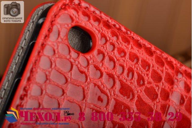"""Фирменный чехол для iPad Pro 12.9"""" лаковая кожа крокодила красный"""