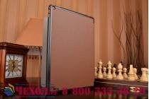 """Фирменный умный чехол самый тонкий в мире для планшета iPad Pro 12.9"""" """"Il Sottile"""" коричневый кожаный"""