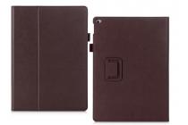 """Фирменный чехол бизнес класса для iPad Pro 12.9"""" с визитницей и держателем для руки коричневый натуральная кожа """"Prestige"""" Италия"""