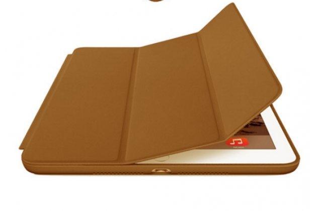 Чехол-обложка для iPad2/new iPad 3 SLIM коричневый кожаный