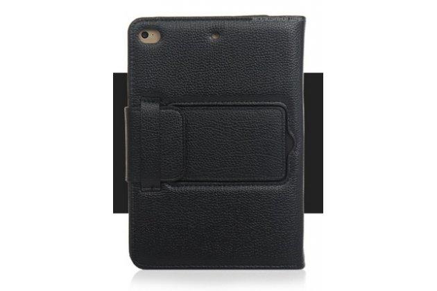 Фирменный чехол со съёмной Bluetooth-клавиатурой для ipad Mini 4 черный  кожаный + гарантия