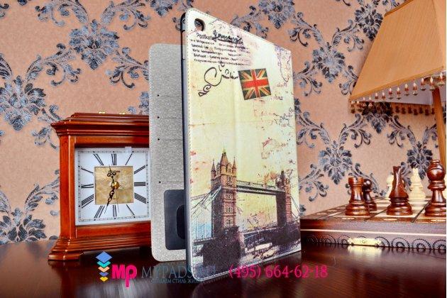 """Чехол-футляр для iPad Air 2 """"тематика Тауэрский мост Англия"""" кожаный"""