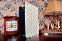 Фирменный чехол-обложка для iPad Air 2 в клетку белый кожаный