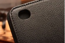 Фирменный чехол-сумка для iPad Air 2 черный кожаный