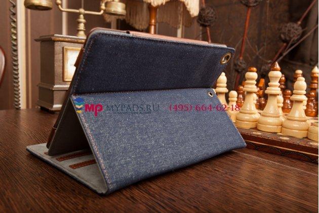 Фирменный чехол для iPad Air 1 MD794/791/795/792785/788789796/793/987 RU/A из настоящей джинсы с кармашком под iPhone
