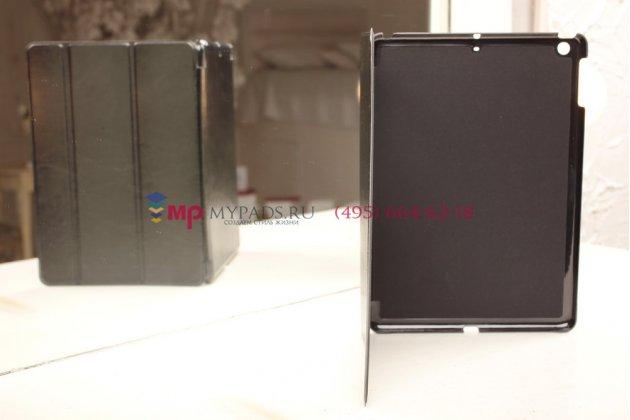 Чехол-обложка для iPad 5 черный кожаный