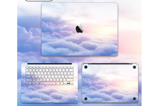 Фирменная оригинальная защитная пленка-наклейка с 3d рисунком на твёрдой основе, которая не увеличивает ноутбук в размерах для Apple MacBook Air 11 Early 2015 (MJVM2/ MJVP2) 11.6 / Apple MacBook Air 11 Early 2014 ( MD711 / MD712) 11.6. Цвет в ассортименте