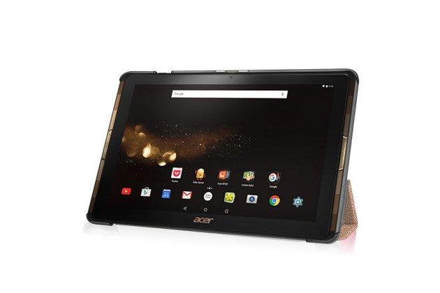 Фирменный умный чехол самый тонкий в мире для Acer Iconia Tab 10 A3-A40 2016 iL Sottile золотой пластиковый Италия