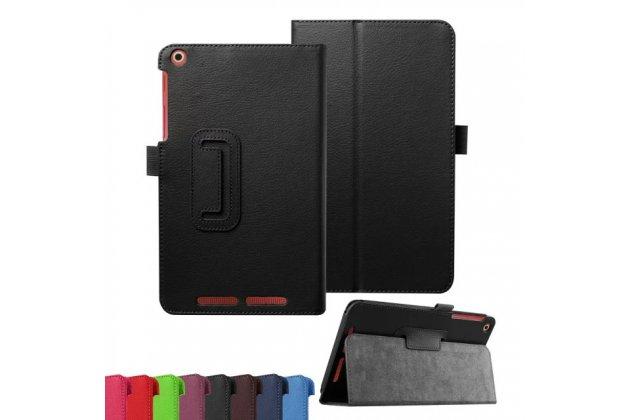 Фирменный чехол-обложка с подставкой для Acer Iconia Tab A1-860 черный кожаный