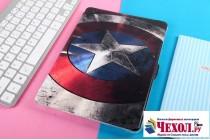 Фирменный необычный чехол для iPad Air 2 тематика Капитан Америка