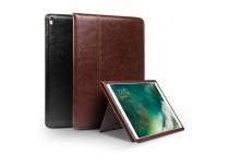 Фирменный умный элитный премиальный чехол бизнес класса для планшета iPad Air 2 из качественной импортной кожи коричневый