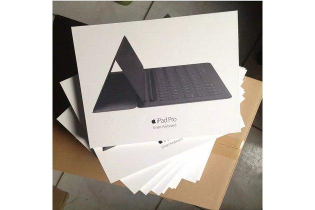 Фирменный оригинальный чехол-клавиатура Apple Smart Keyboard (MJYR2ZX/A) для iPad Pro 12.9 черный английская раскладка + гарантия + русские клавиши