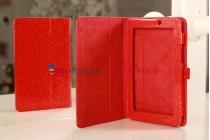 Чехол-обложка для Acer Iconia Tab A110/A111 лаковый с блестками красный