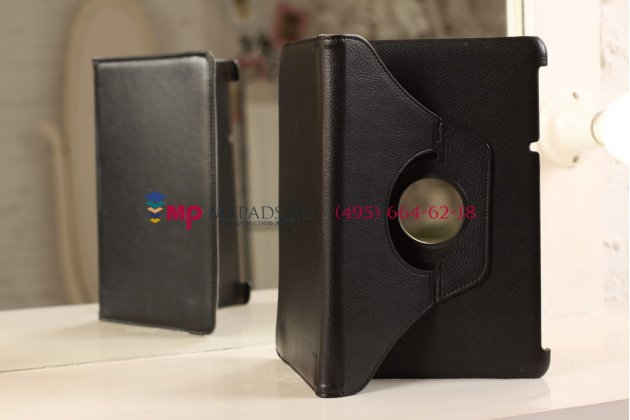 Фирменный чехол для Acer Iconia Tab A510/A511 поворотный черный кожаный