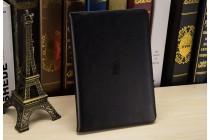 Фирменный премиальный чехол бизнес класса для Apple iPad 2/3/4 с визитницей из качественной импортной кожи черный