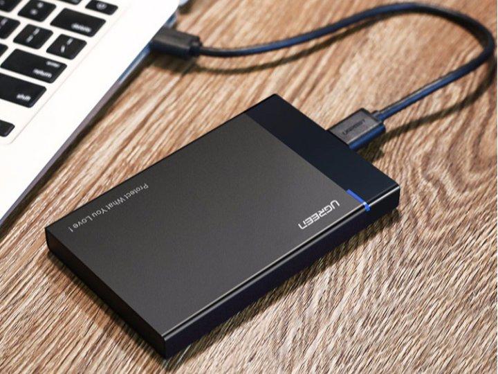 """корпус Ugreen для внешнего жесткого диска Micro B USB 3.0 HDD Sata 2.5""""/ SSD"""