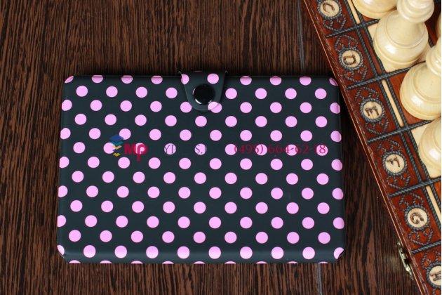 Чехол в крапинку под далматинца чехол-обложка для iPad Mini черно-розовый