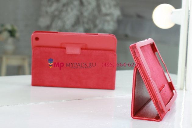 Чехол закрытого типа из мягкой кожи для iPad Mini 1/2/3 красный